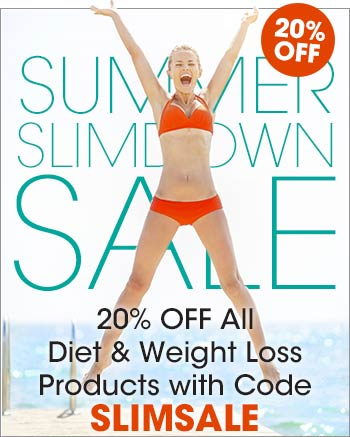 Slimdown for Sumer Sale. 20% off all diet and weight loss products at Bulu Box