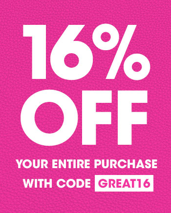 16% OFF sitewide with code GREAT16