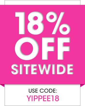 18% OFF sitewide with code YIPPEE18